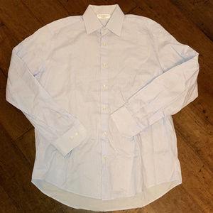 YVES SAINT LAURENT YSL ITALY Stripe Dress Shirt